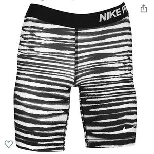"Nike Pro 7"" Tiger Print Compression Shorts, Small"